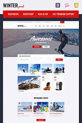 Шаблон #67240 - Winter Sports - Multipage Winter Sports Equipment Store HTML