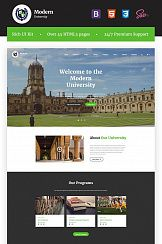 Шаблон #67241 - Modern University - University Or High-School Multipage Responsive  HTML