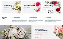 Шаблон #68654 - Flower Boutique Multipage HTML5